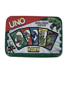 Incredible Hulk Themed UNO Card Game Special Edition Collectable Storage Tin