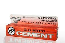 GS-Hypo Cement Elastischer transparenter Klebstoff mit Pipettiernadel NEU!