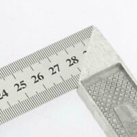 Stahl L-Quadrat Winkel Lineal 90 ° Lineal für Holzbearbeitung Z0T7 J5D2