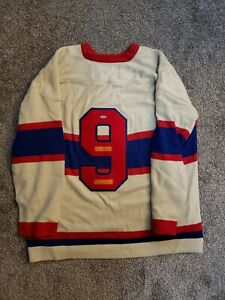 Maurice Richard Dick Irvin Signed Jersey