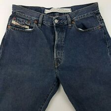Diesel FELLOW Mens Jeans W33 L28 Blue Regular Fit Straight High Rise Buttons
