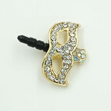 3.5mm Crystal Mask Anti Dust Headphone Jack Plug For iPhone 4S/5S/6 Blackberry a