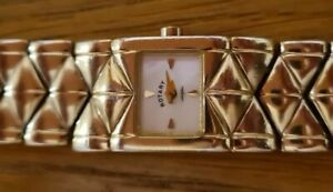 Rotary solid sterling silver heavy Bracelet Watch fully hallmarked.