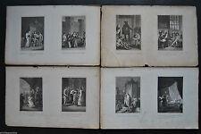 Originaldrucke (1800-1899) mit figürlichem Motiv und Kupferstich