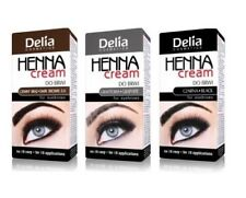 2x Delia Henna Eyebrow Color Cream Tint Black Argan Oil for 30applications