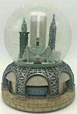 Bloomingdales Snow Globe New York City Twin Towers Skyline PRE 9/11 Music Motion