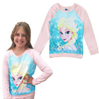 Disney Frozen Girls Official Elsa T Shirt Sweatshirt Snow Queen Final Clearance