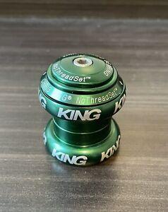 "Chris King ""NoThreadset"" Headset, Threadless, 1-1/8 Rare Green Color"