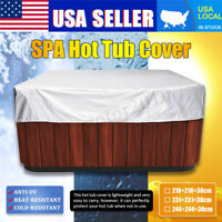 Polyethylene Hot Tub Spa Cover Cap Waterproof Protector Heat / Cold Resistant US
