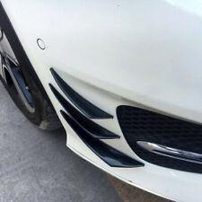 6pcs Universal Black Car Front Bumper Fins Spoiler Canards Refit Car Accessories