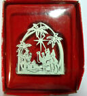 Vintage RUSS BERRIE Christmas Silhouettes Ornament 'NATIVITY'