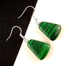 Simulated Malachite Drop/Dangle Fashion Earrings