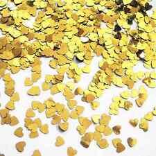 CSC las importaciones de oro Mini Corazones pequeño corazón Confeti de mesa 14 Gramos Partido Chispas