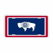 """Wyoming State Flag Vanity Licence Plate 6"""" x 12"""" Aluminum Plate"""
