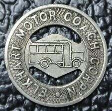 Vintage ELKHART MOTOR COACH CORP'N TOKEN - Good For One Fare - INDIANA