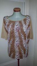 Butterfly 3/4 Sleeve Regular Size Tops & Blouses for Women