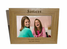 Sisters Wooden Photo Frame 7x5 - Personalise this frame - Free Engraving