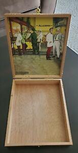 Aladino Elegante JRE Empty Wooden Cigar Box w/ Clasp Crafts Storage Guitar Coins
