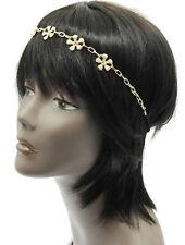 SCHNÄPPCHEN Haarband Stirnband Elastik Haarschmuck Blumen Gold Kristall klar