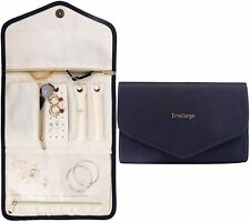 Travel Jewellery Organiser, Foldable Storage Roll for Rings, Necklaces, Bracelet