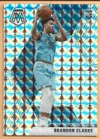2019-20 Panini Mosaic Brandon Clark Rookie Silver Prizm RC #207 Memphis Grizzlie