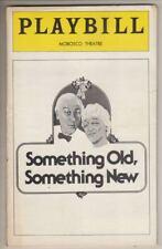 "Molly Picon & Hans Conreid  ""Something Old, Something New""   Playbill  1976"