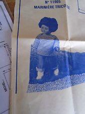 """T1 PATRON POUPEE""""  M FRANCOISE   MODES ET TRAVAUX PULL MARINNIERE    AVRIL 1976"""