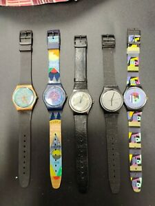 5 Stk. Swatch Sammler Uhren - neuwertiger Zustand - seltene Stücke - Lot 8