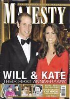Majesty Magazine Kate Middleton Prince Harry Queen Elizabeth 1952 Britain Nurnie