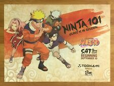 TOONAMI Naruto Anime 2005 Vintage Print Ad/Poster Official Cartoon Network Rare!