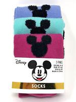 3 Paar Disney Mickey Mouse Damen Socken Micky Maus Kopf Strümpfe 37-42 Primark