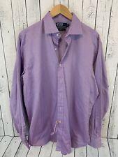 Polo Ralph Lauren Regent Long Sleeve Button Front Shirt Purple Size L 16 1/2 G3