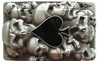 Flash Cards Spade Diamond Clubs Hearts Player Die Cut Rock Rebel Necklace New