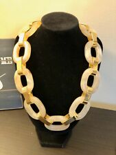 J.Crew Lucite Tortoise Chain Link Necklace New$98 Natural With J.Crew Bag!