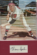 Warren Spahn Cut Signature with 8 x 10 Matted Photo  -  Braves  H.O.F.