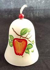 Sandstone Creations Hand Painted Bell Apple Tempe, Az Ceramic Bell Hanger
