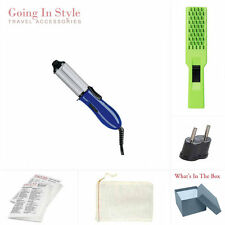 Mini Curling Iron, Europe Adapter, Hairbrush and Bag Travel Set | Going In Style