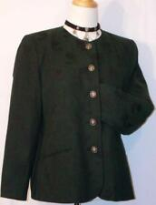 H MOSER ~ BLACK & GREEN Women Austria ELEGANT & CLASSY Suit JACKET Blazer 38 8 S