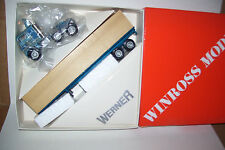 1984 Werner Winross Diecast Flat Bed Trailer Truck With Wood Load