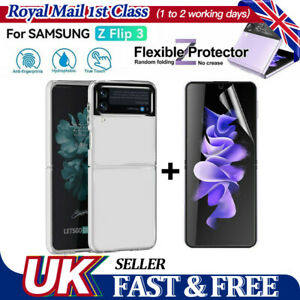 Transparent Shockproof Protective Clear Phone Case For Samsung Galaxy Z Flip 3