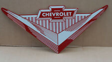 New ListingChevrolet Bowtie V Diecut Dealer Sign Chevy Auto gas oil modern retro