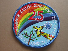 Rainbows Go To London Zoo Girl Guides Cloth Patch Badge (L3K)