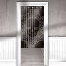 Haunted Halloween Horror Sinister Skull Lace Door Curtain Decoration
