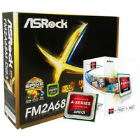 AMD A4 6300 CPU ASROCK FM2A68M-DG3+ DVI & VGA MOTHERBOARD GAMING UPGRADE BUNDLE