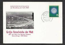 Karte-BRD-größte Betonbrücke der Welt-Rheinbrücke bei Bendorf/Koblenz-