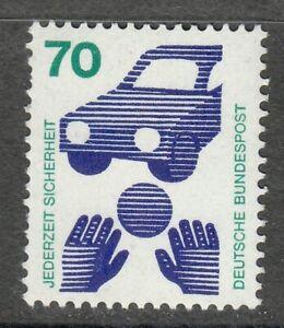 Germany 1973 MNH Mi 773 Sc 1082 Accident prevention. Traffic safety.Car **