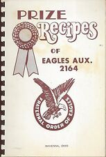 PRIZE RECIPES OF *RAVENNA OH VINTAGE EAGLES AUXILIARY 2164 COOK BOOK *LOCAL ADS