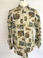 Woolrich Mens 100% Cotton Heavy Shirt Fishing Long Sleeve Outdoors  Size XL