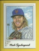 Noah Syndergaard  2017 Topps Gallery Card # 27  New York Mets Baseball MLB
