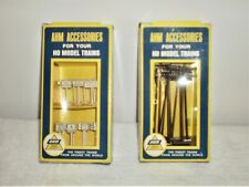 AHM Accessories HO Scale Signs # 5610 & Telephone Poles # 5612 Lot - Lionel -